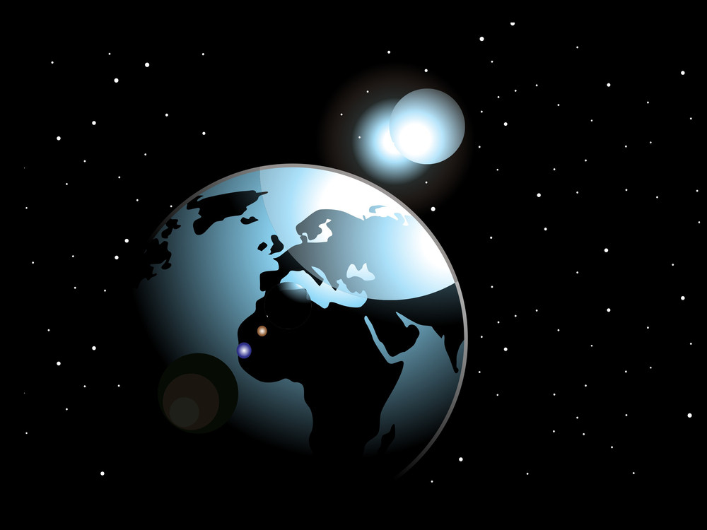 Background With Space In Earth