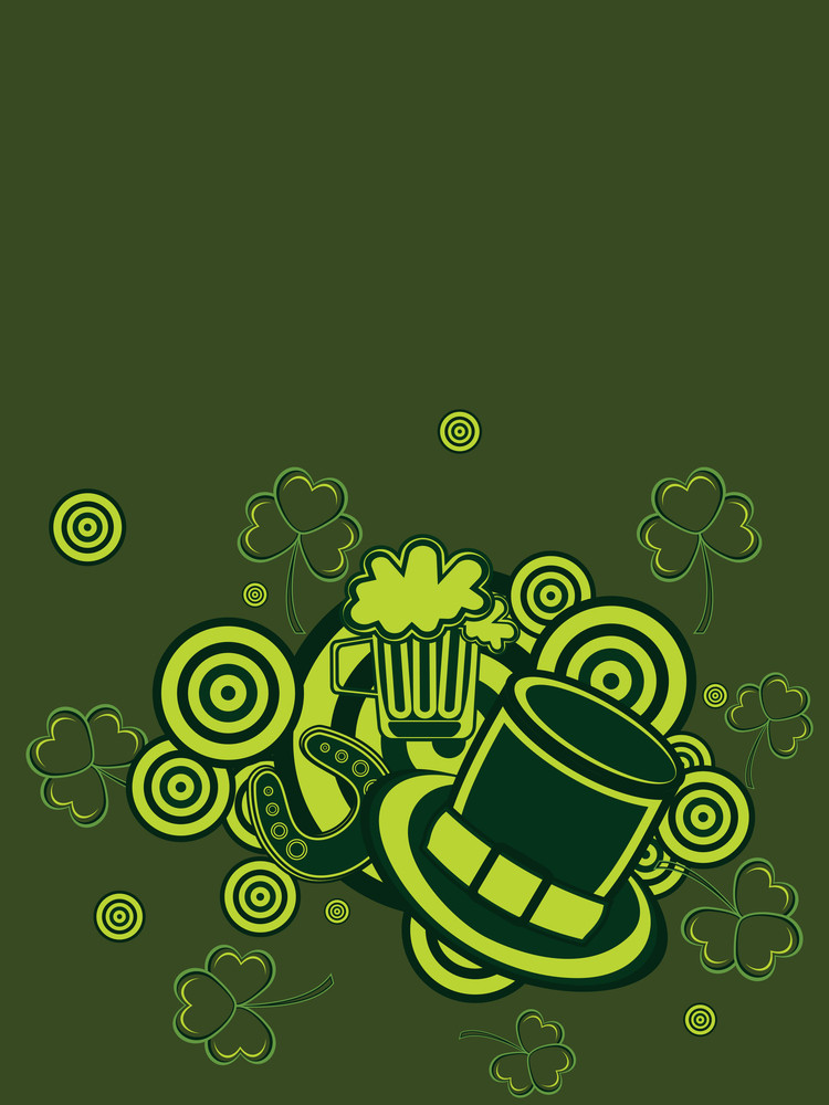 Background With St. Patrick's Day Elements