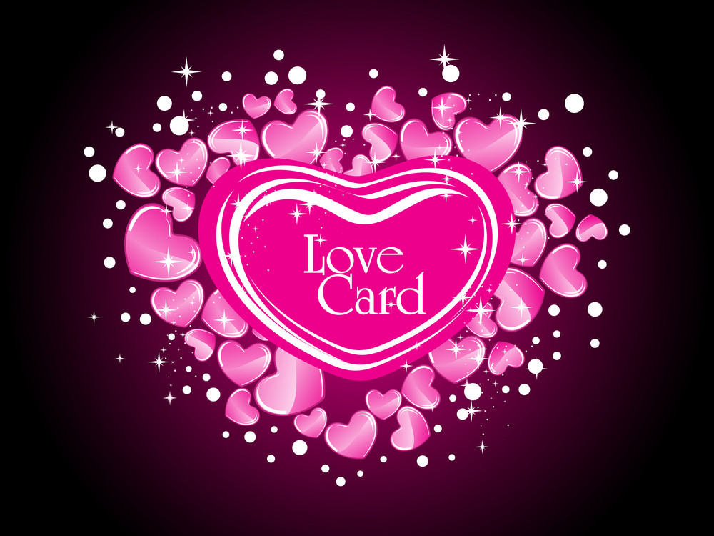 Background With Stylish Pink Hearts