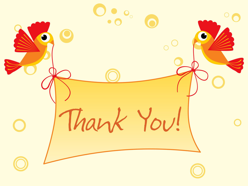 Background With Thank You Banner