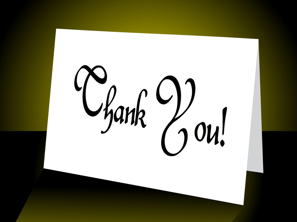 Background With Thank You Card