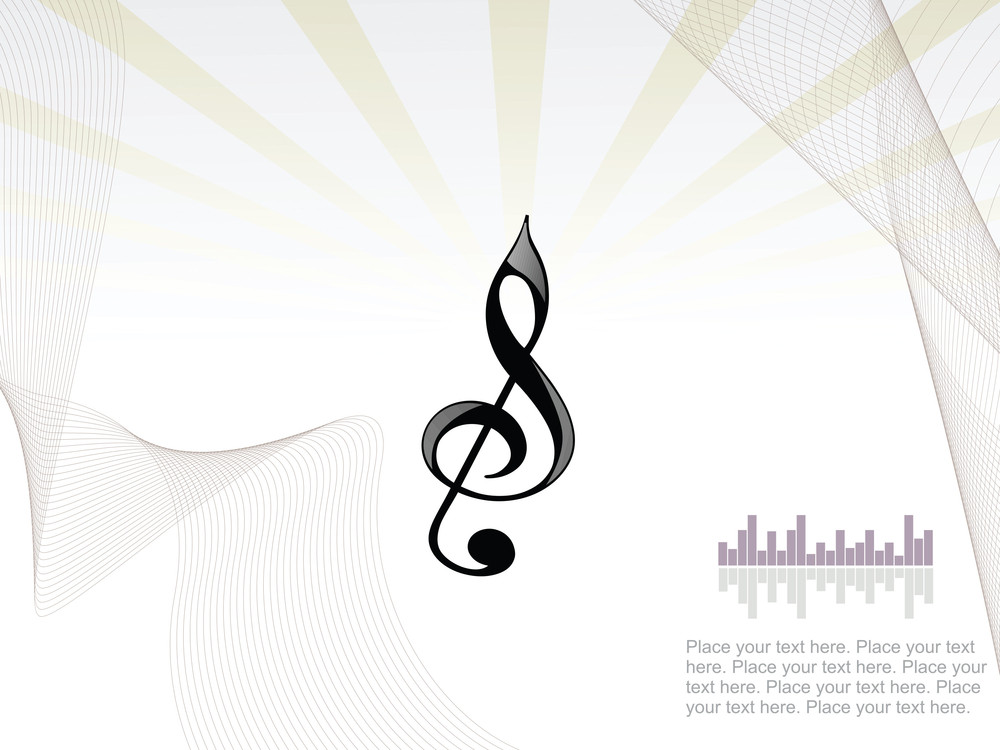 Background With Treble Clef
