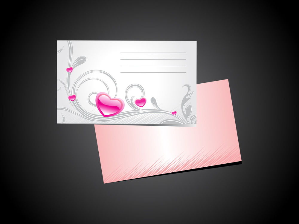 Background With Valentine Day Letterhead