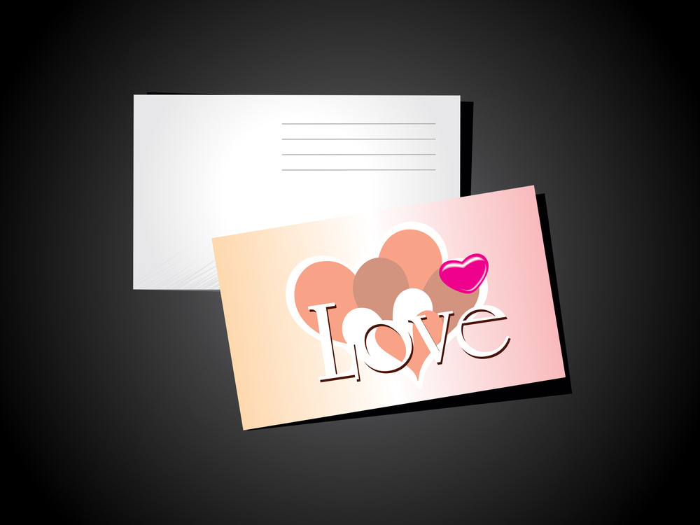 Background With Valentine Day Postcard