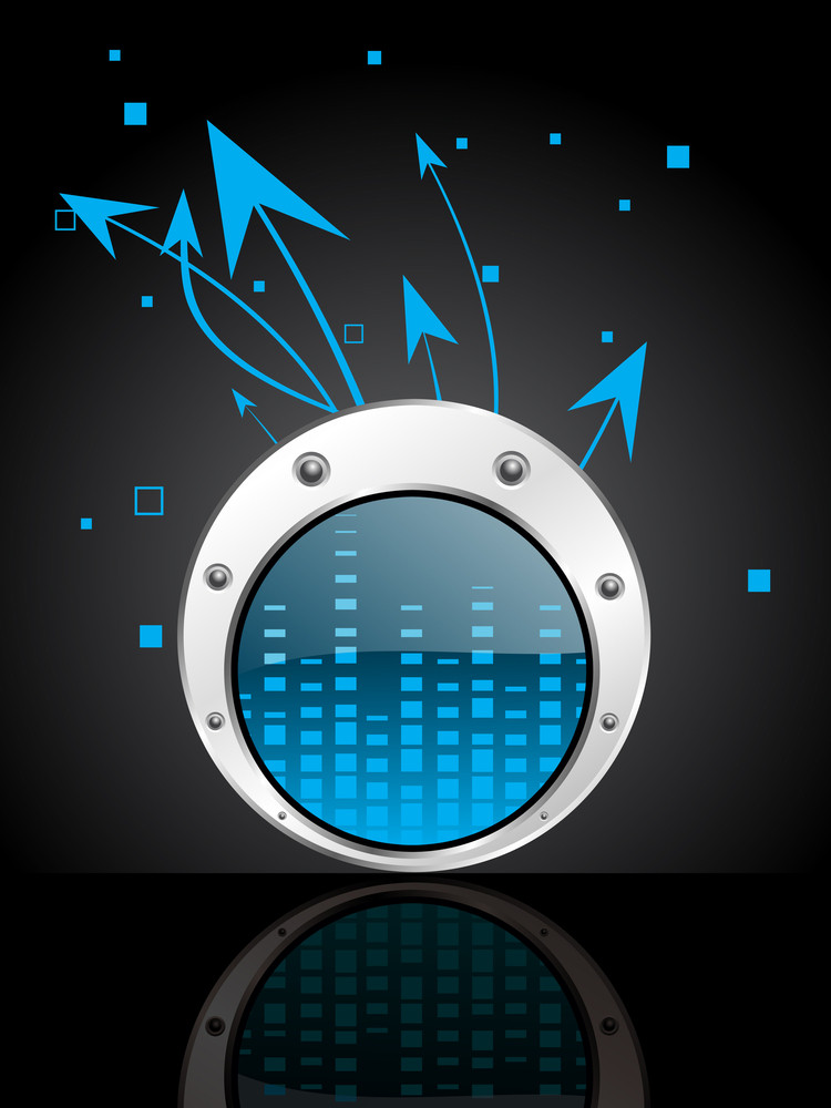 Background With Volume Frequency Button