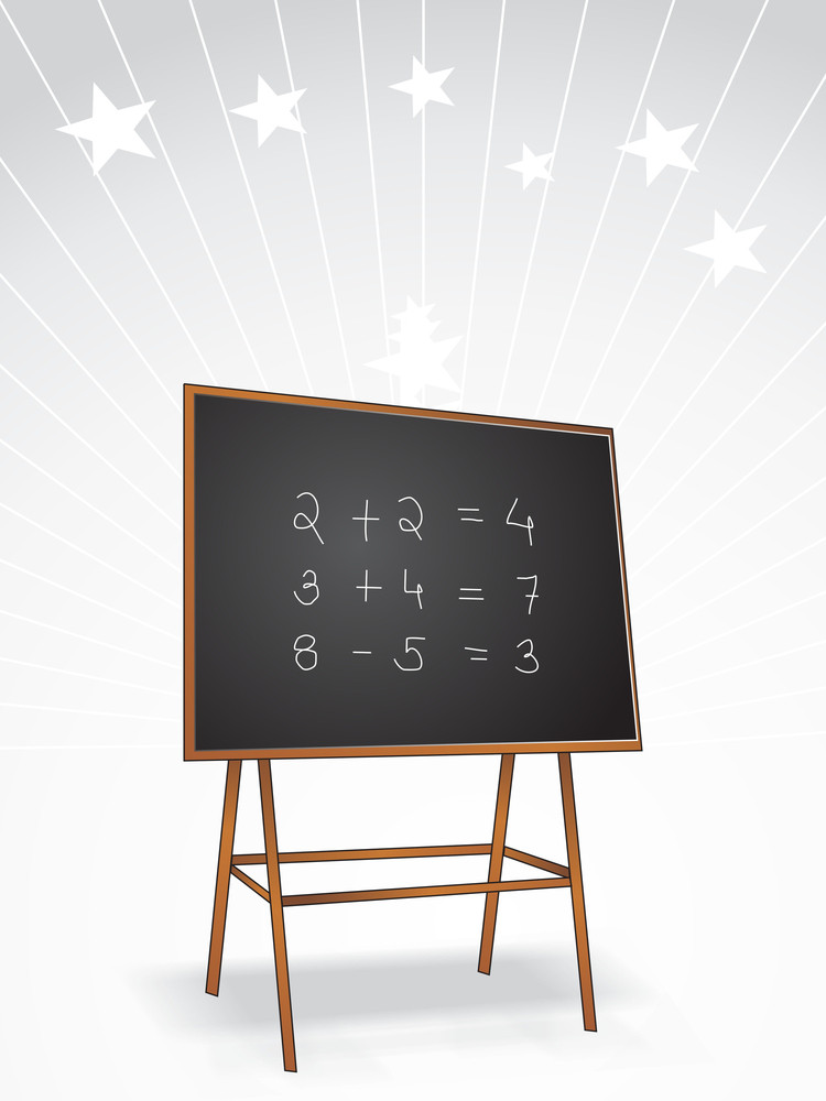 Background With Wooden Blackboard
