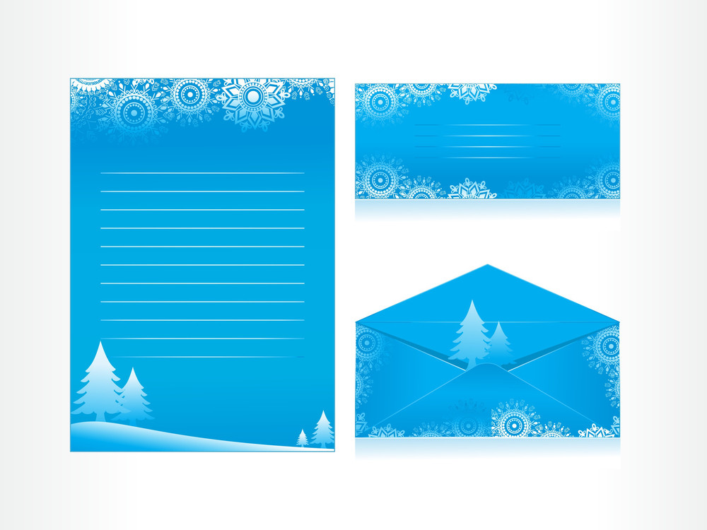 Background With Xmas Letterhead