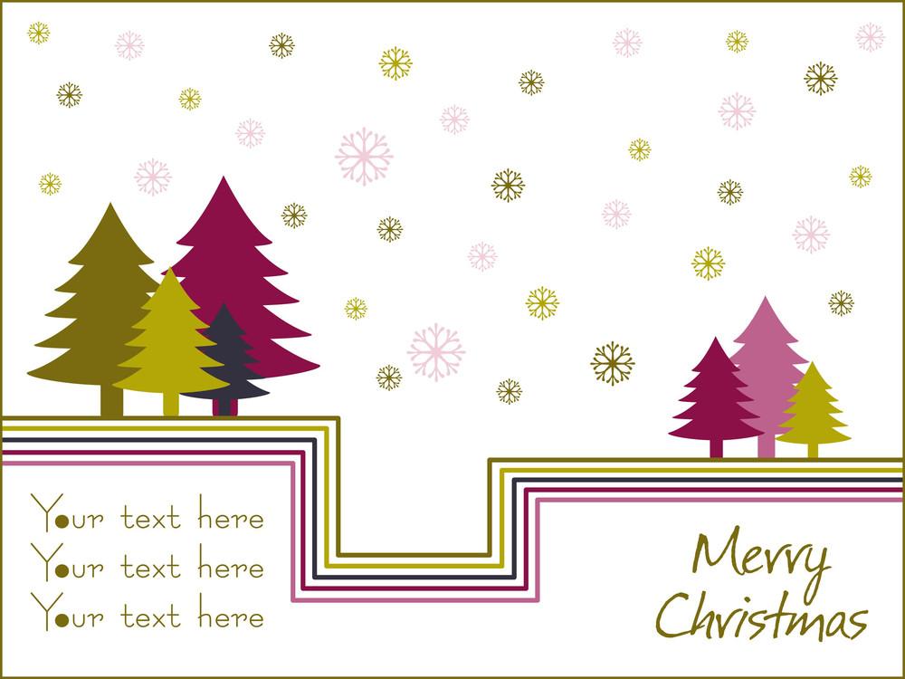 Background With Xmas Tree Illustration