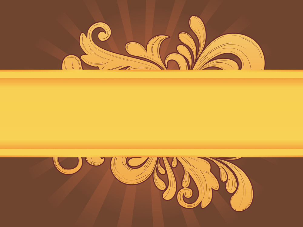 Background With Yellow Artwork Banner