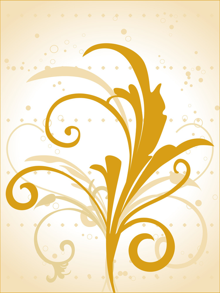 Background With Yellow Floral Pattern