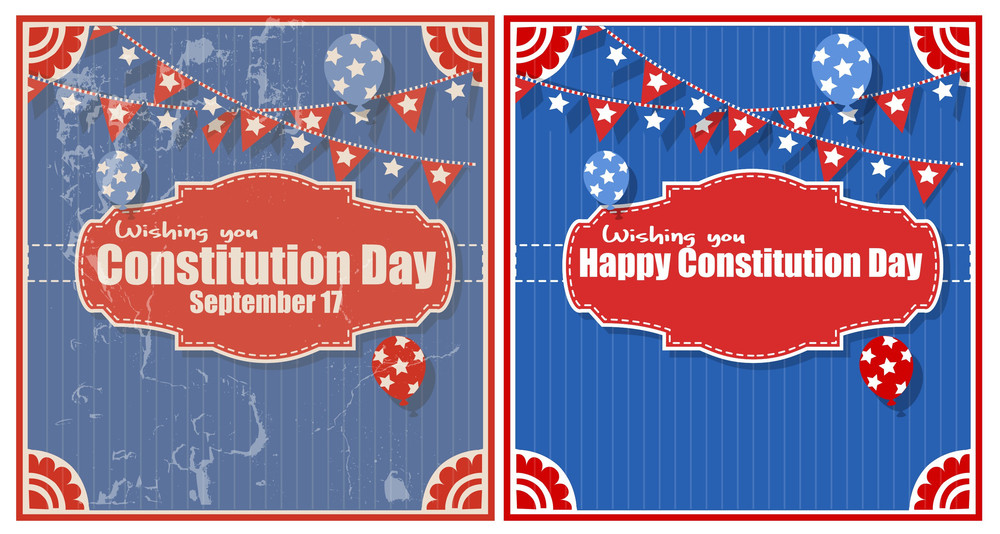 Backgrounds Constitution Day Vector Illustration