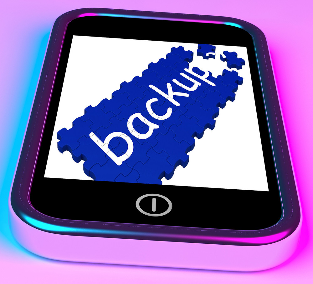 Backup On Smartphone Shows Contacts Recovery