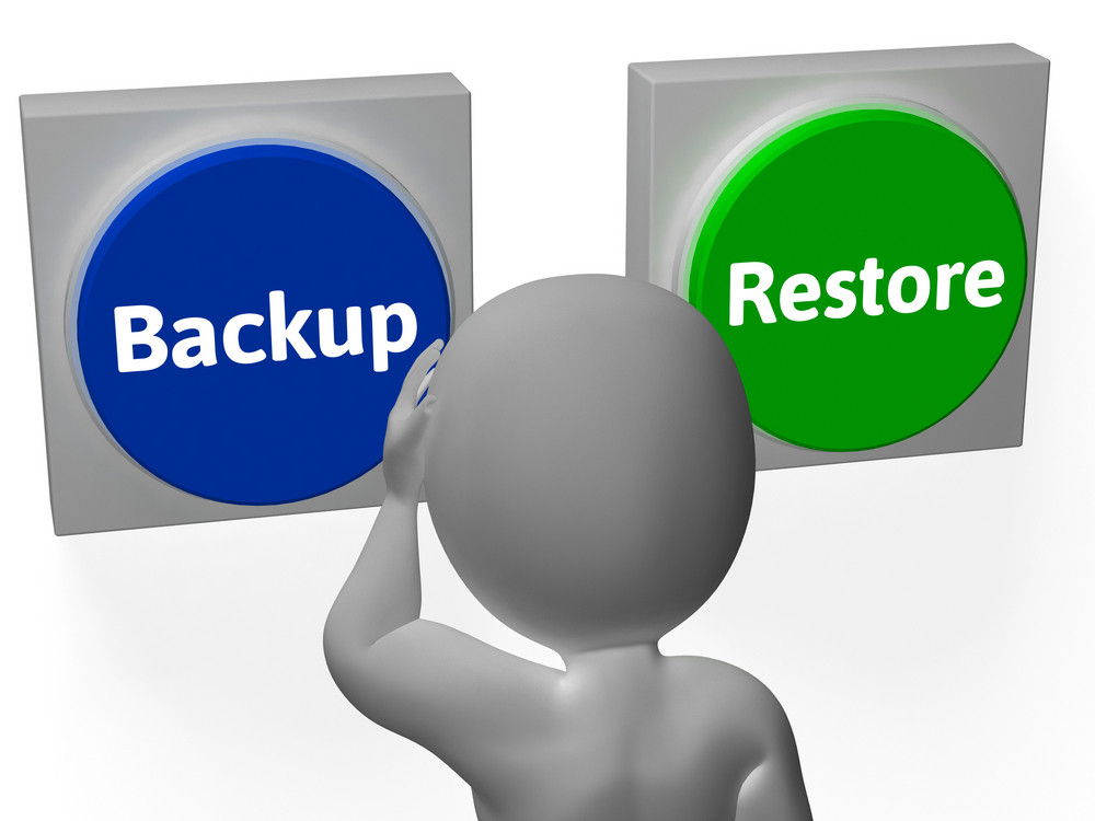 Backup Restore Buttons Show Data Archive Or Recovery