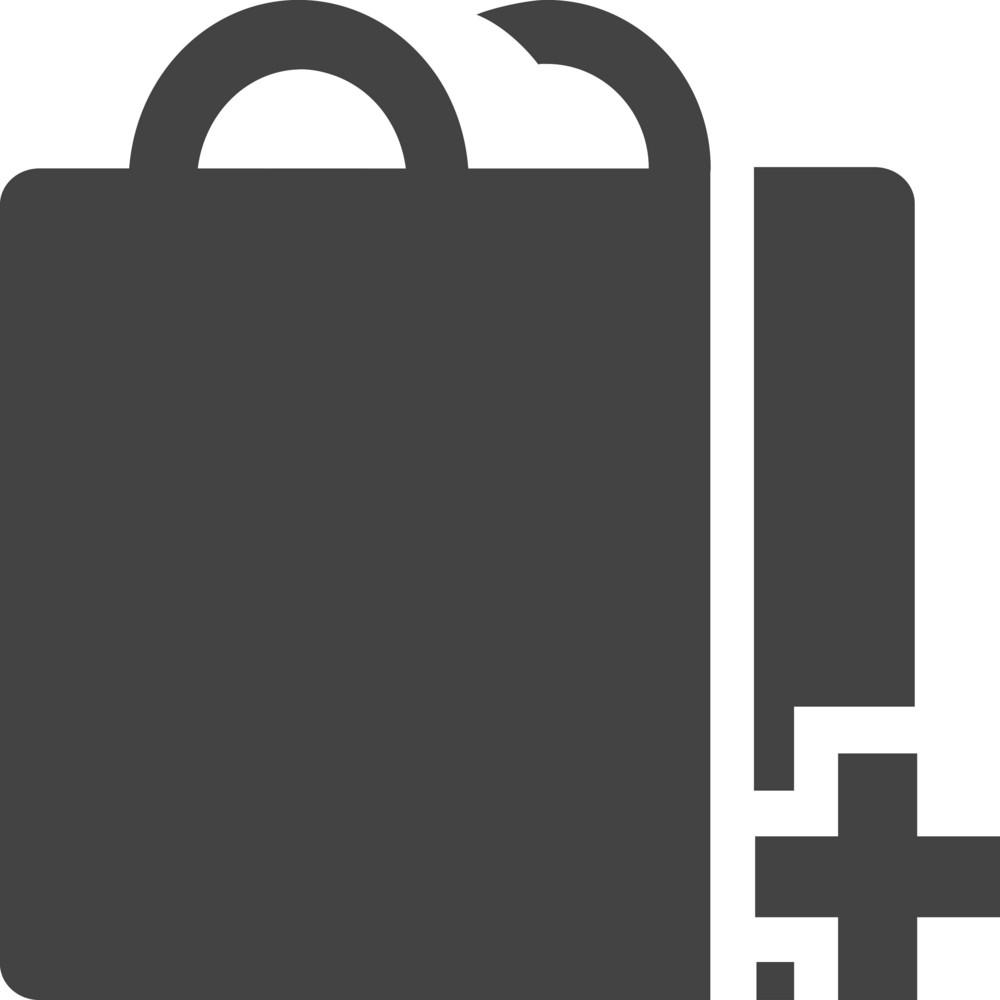Bag Add Glyph Icon