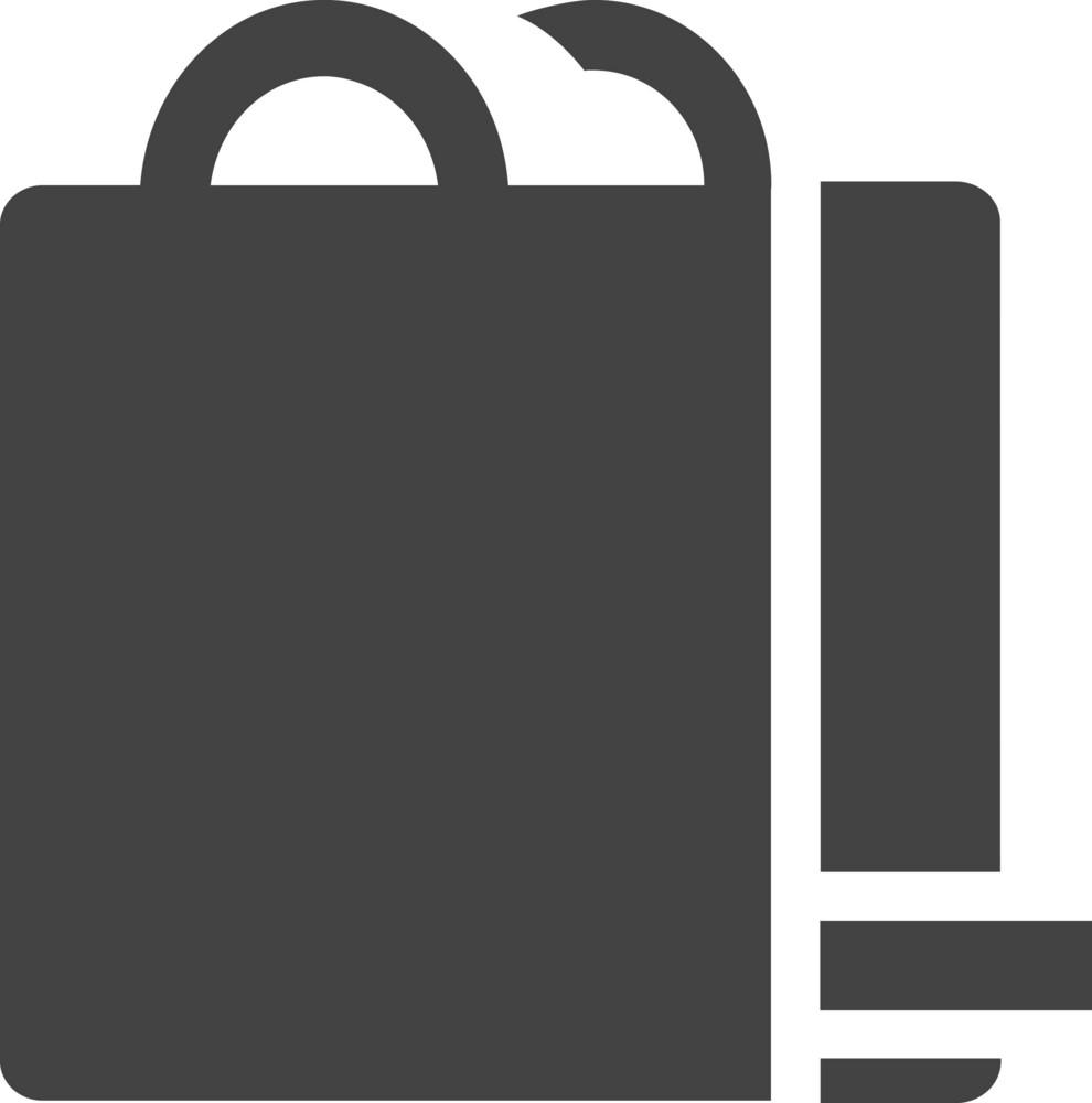 Bag Remove Glyph Icon