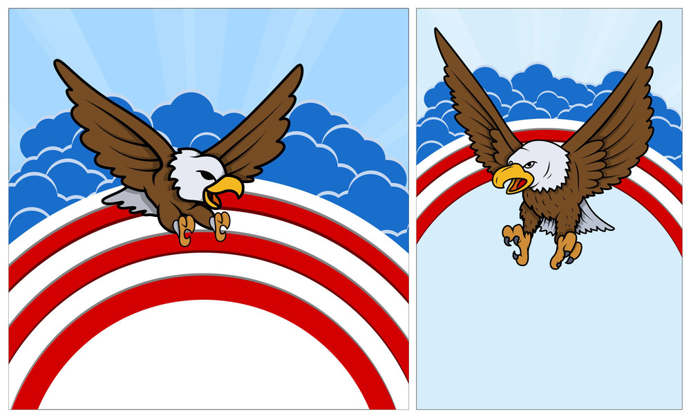 Bald Eagle Patriotic Usa Theme Vector