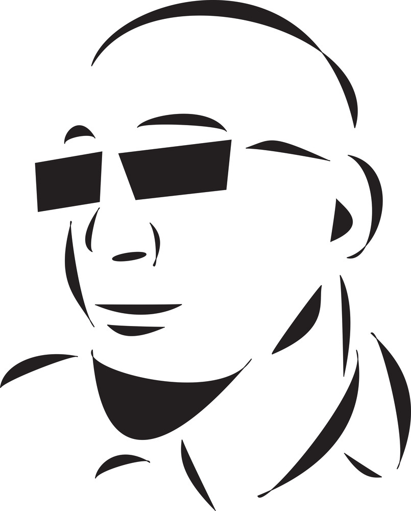 Bald Young Man With Goggles.