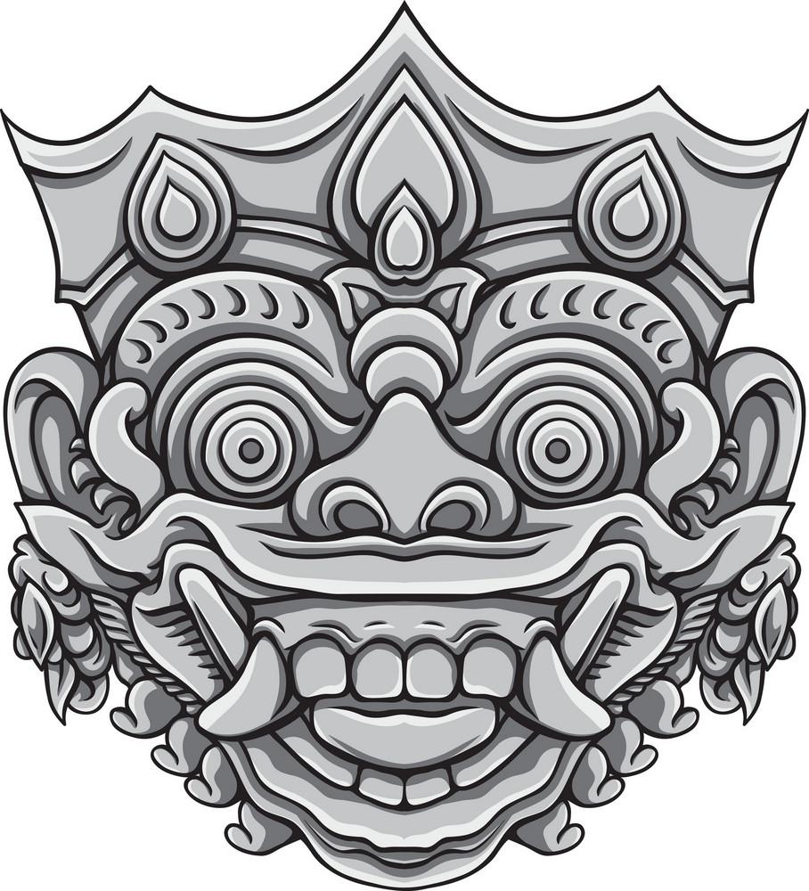 Bali Demons Vector Element