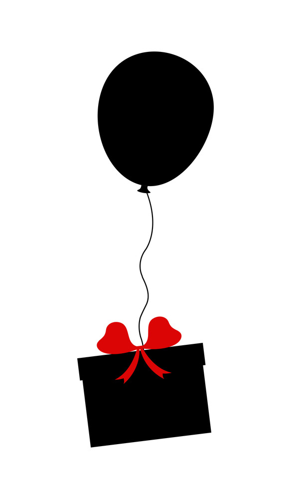 Balloon Flying With Gift Box