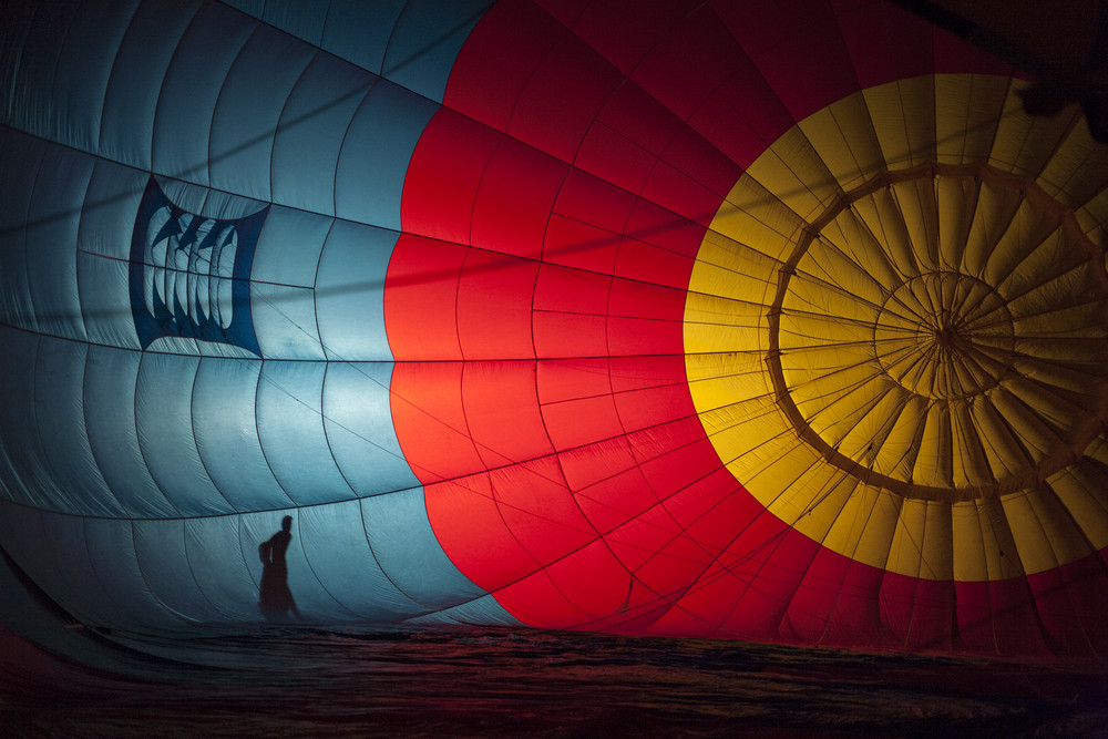 Balloon inside colourful on festival