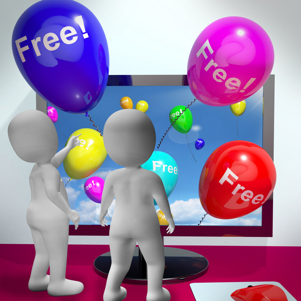 Balloons With Free Showing Freebies And Promotions Online