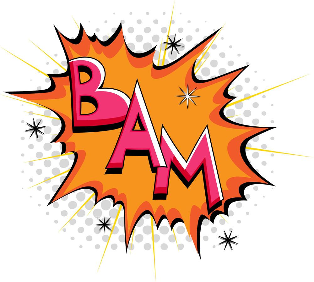 Bam - Comic Expression Vector Text