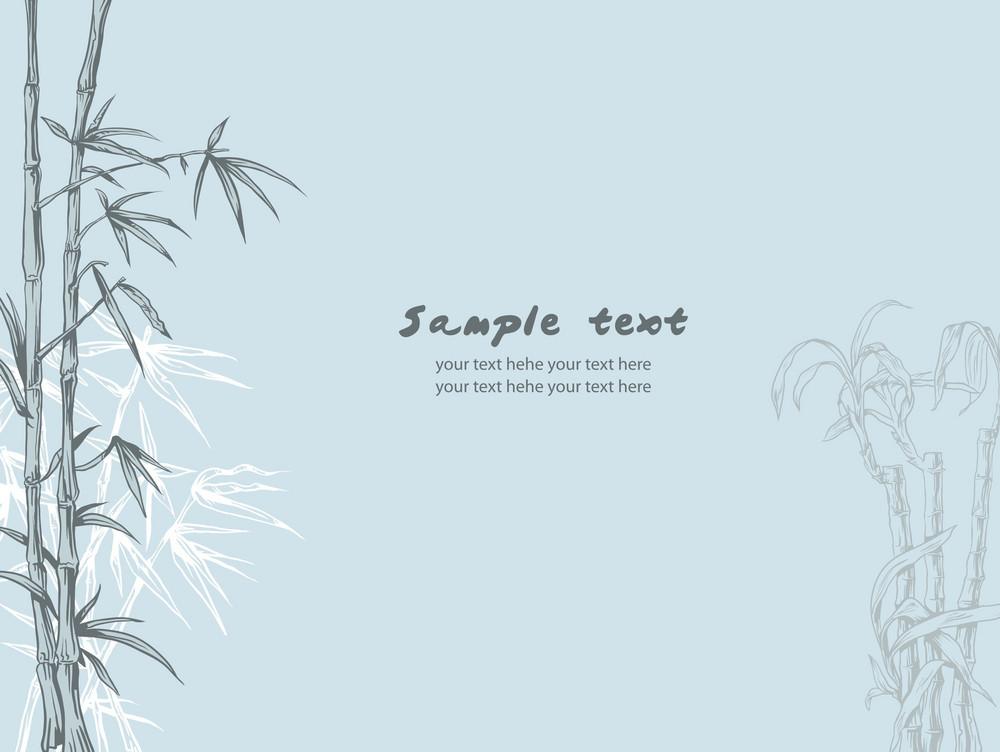 Bamboo Background Vector Illustration