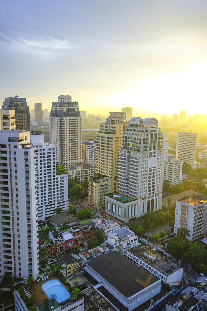 Bangkok city on morning