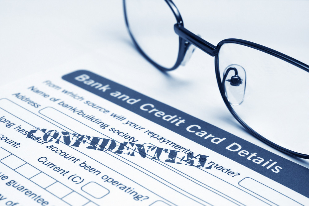 Bank And Credit Card Form