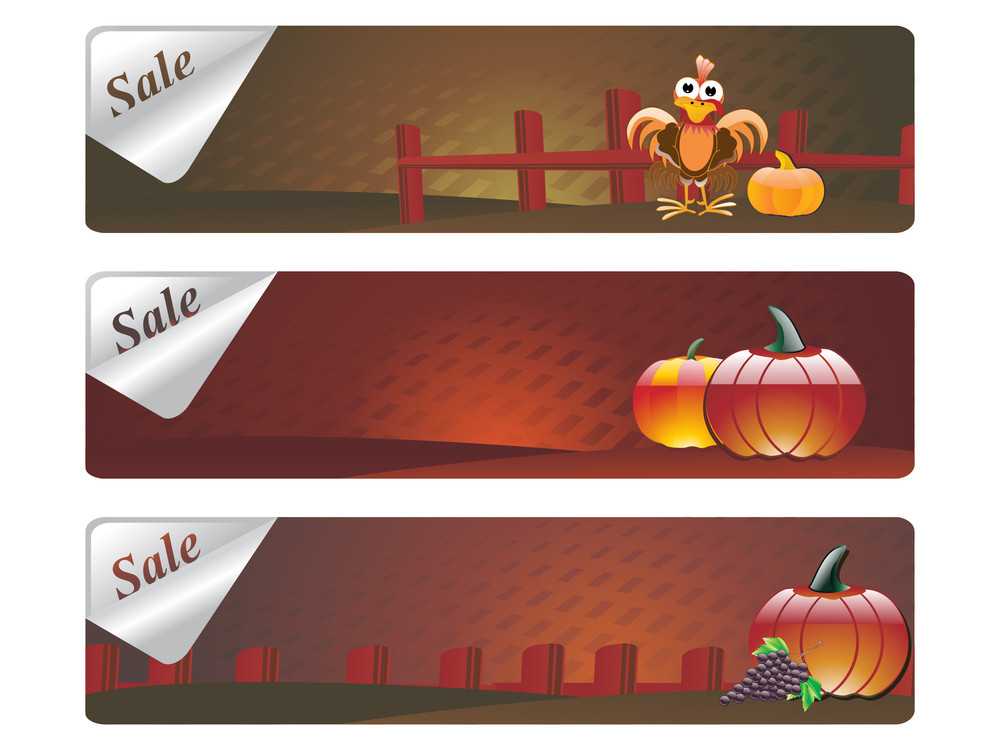 Banner For Happy Thanksgiving Day