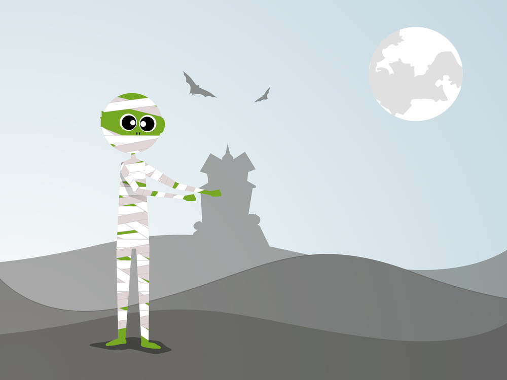 Banner Or Background For Halloween Party Night With Zombie.