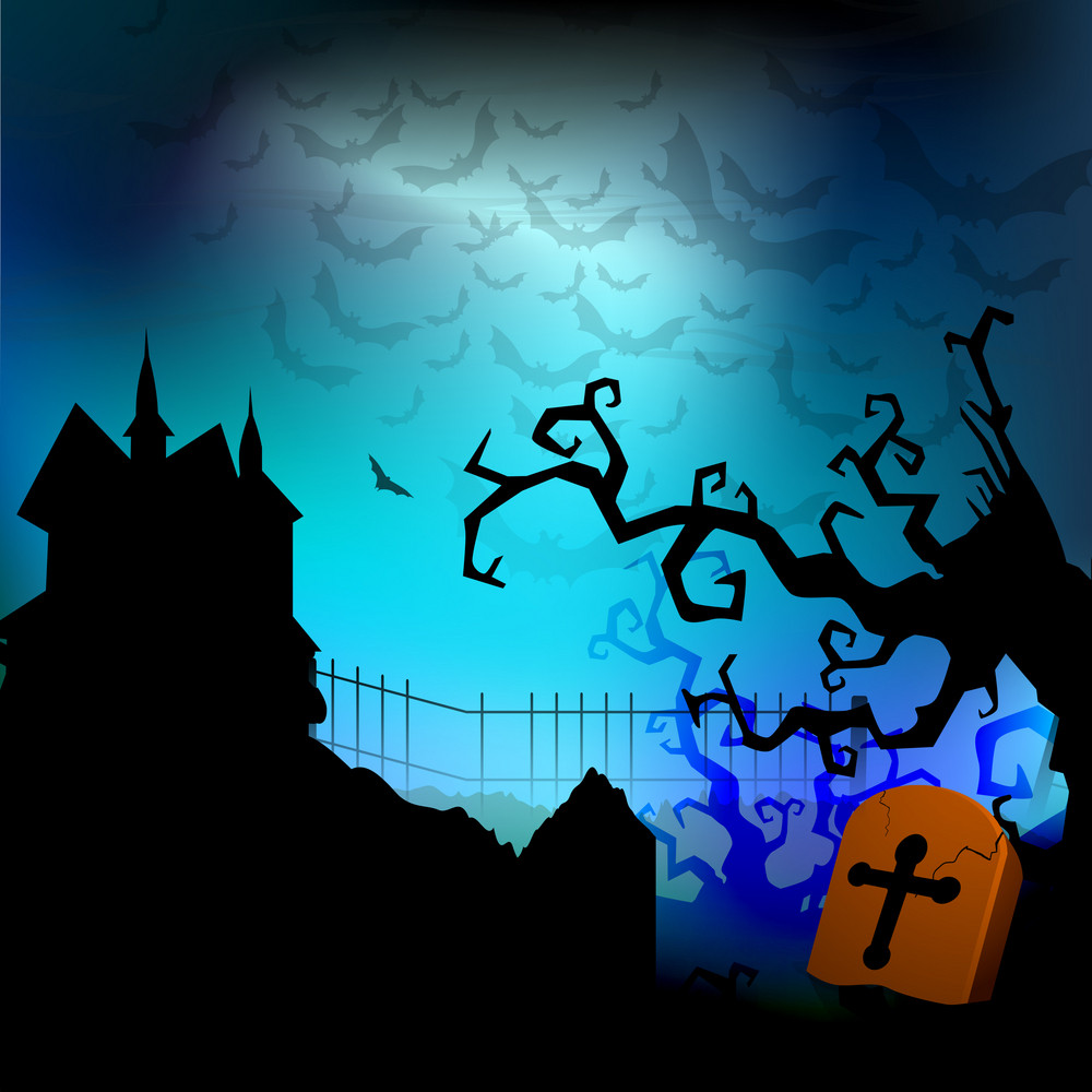 Banner Or Background For Halloween Party Spooky Night