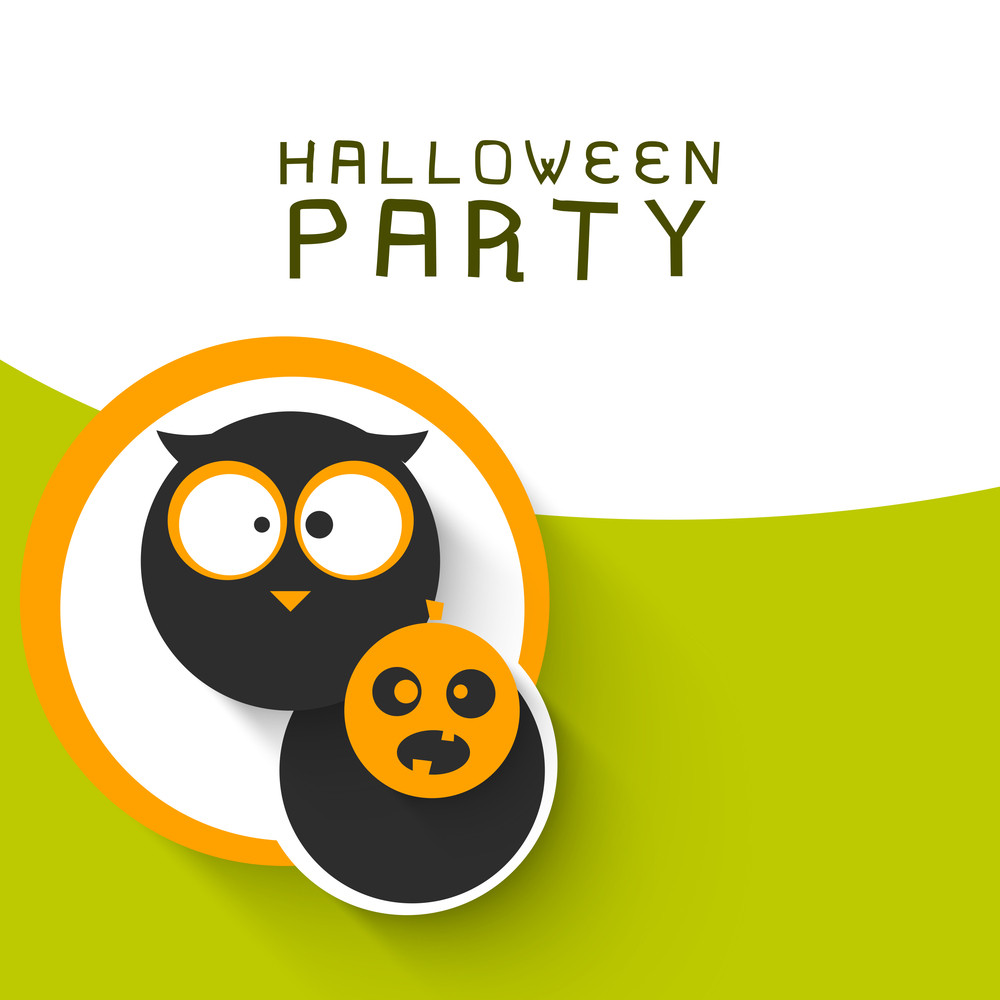Banner Or Background For Halloween Party Sticker