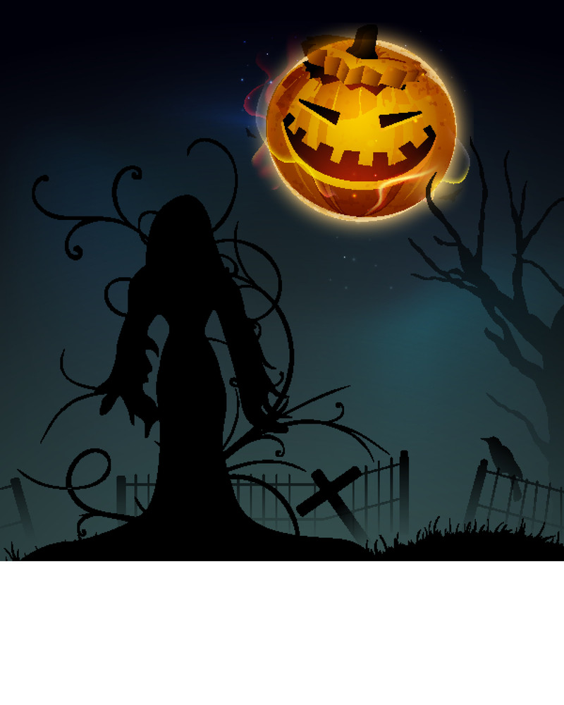 Banner Or Background For Halloween Party With Spooky Night.
