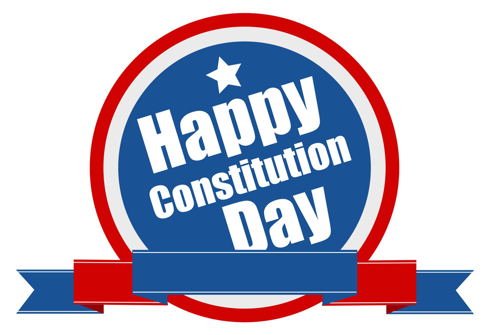 Banner Shield  Constitution Day Vector Illustration
