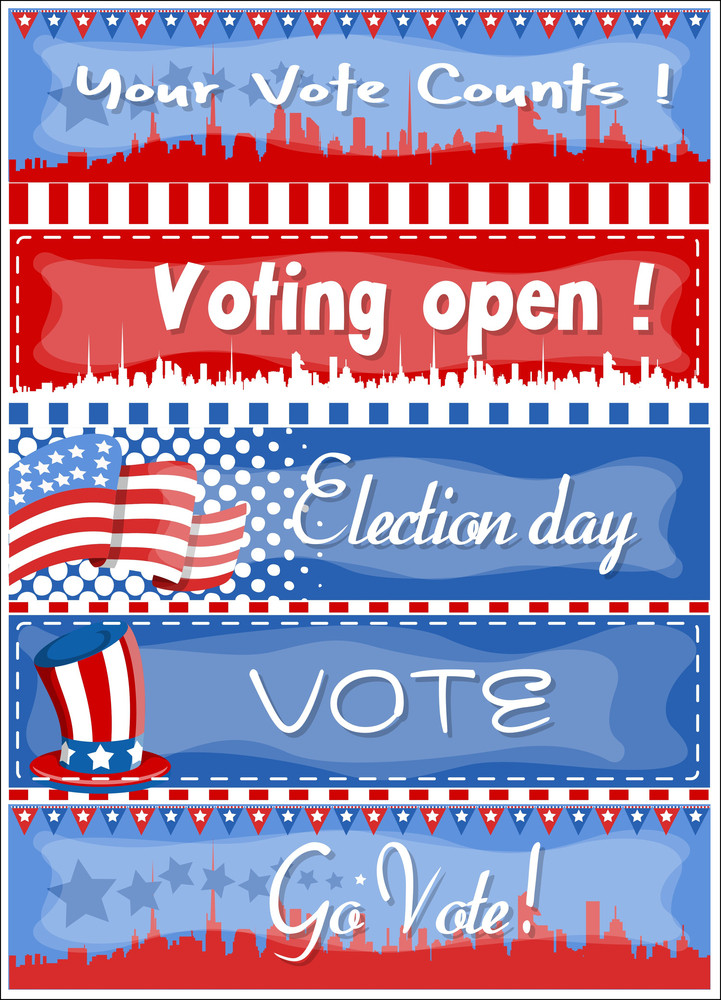 Banners  Election Day Vector Illustration