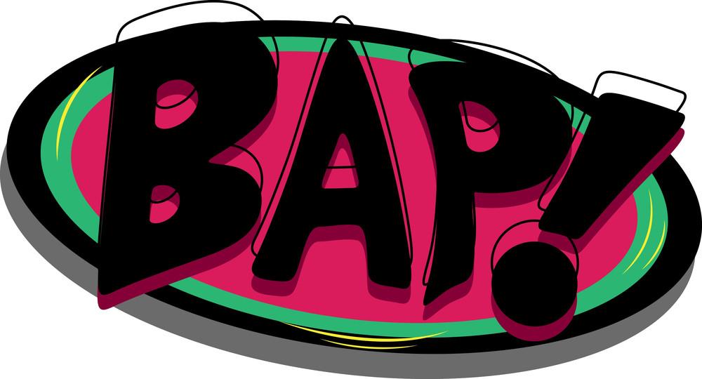Bap - Comic Expression Vector Text