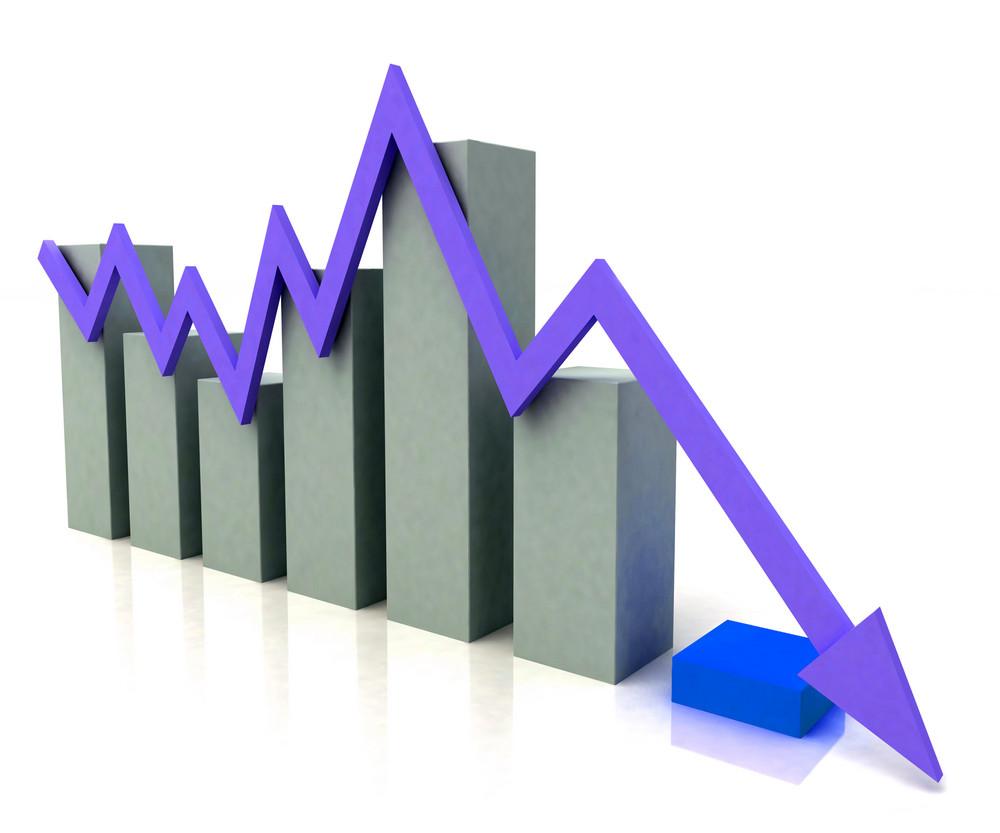 Bar Chart Shows Blue Profit Line Against Budget