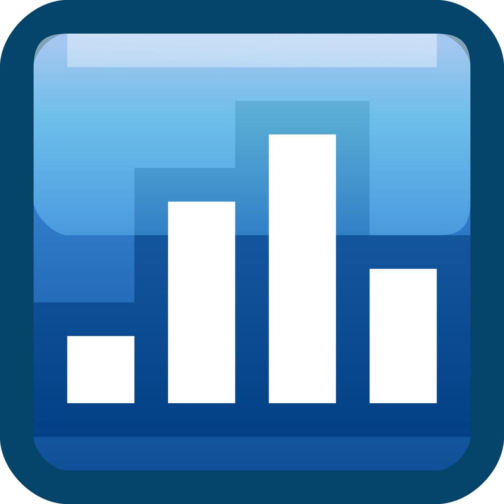 Bar Graph Blue Tiny App Icon