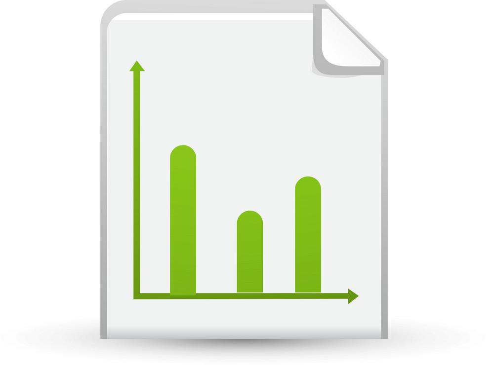 Bar Graph On Paper Lite Application Icon