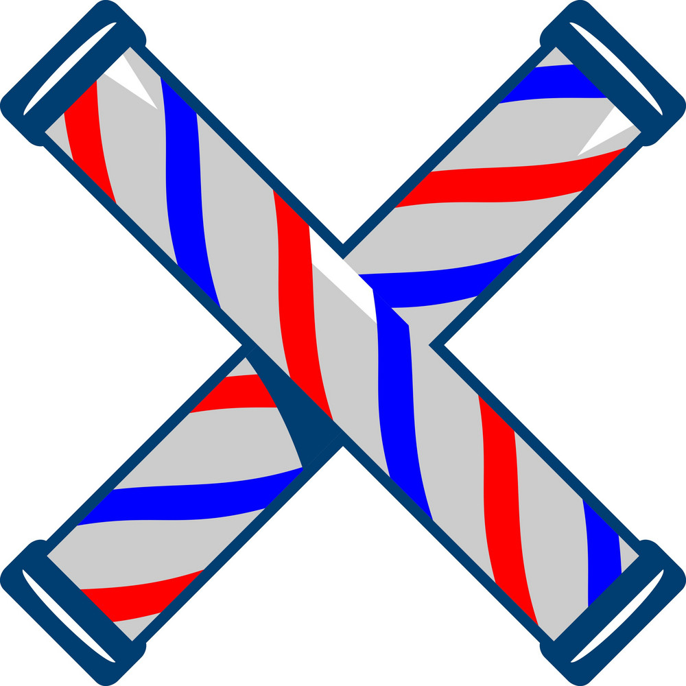 Barber's Pole Crossed Retro
