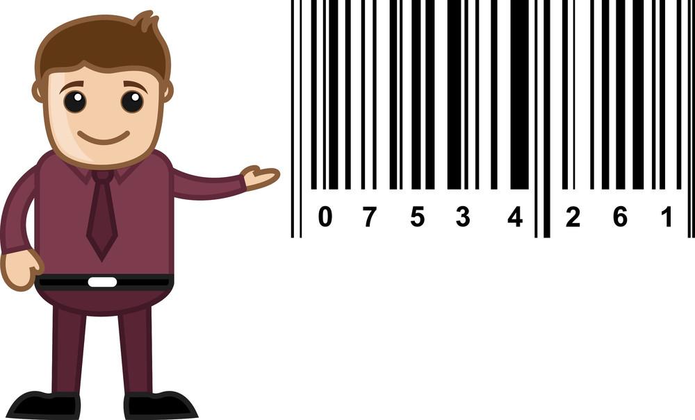 Barcode - Cartoon Vector