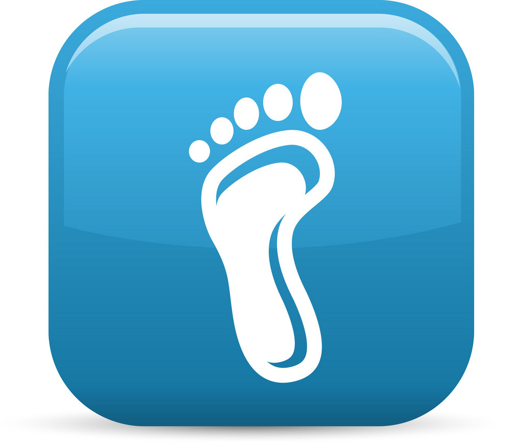 Barefoot Print Elements Glossy Icon