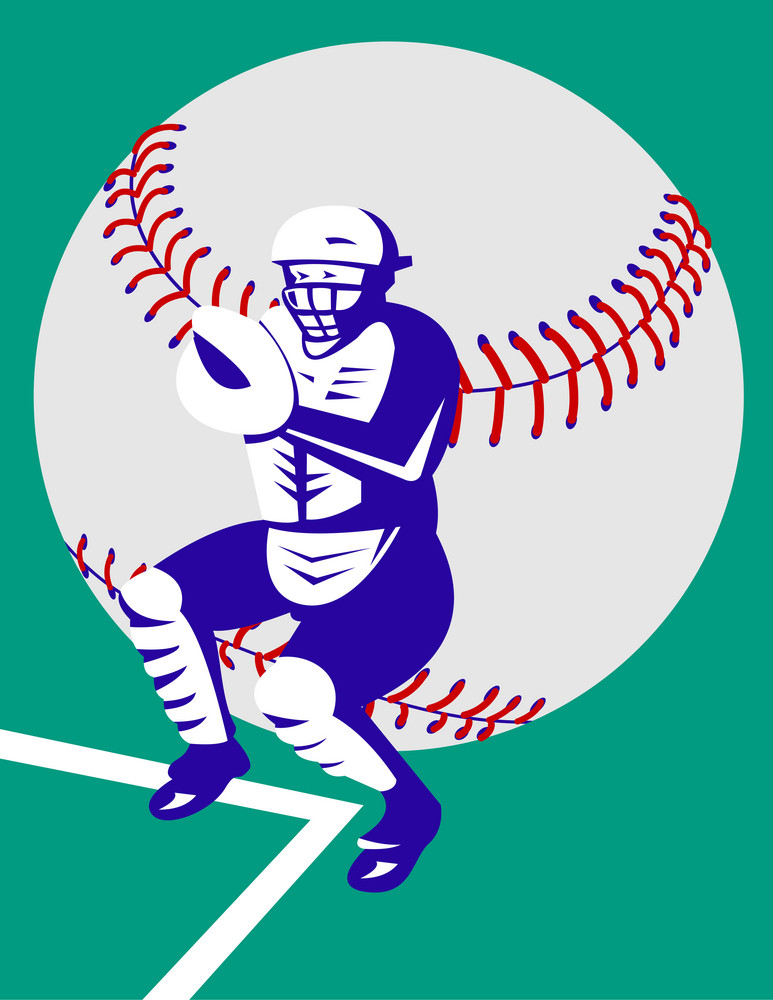 Baseball Player Catcher