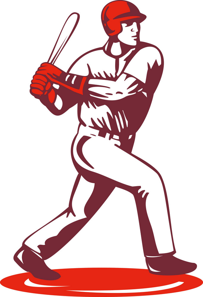 Baseball Player Retro