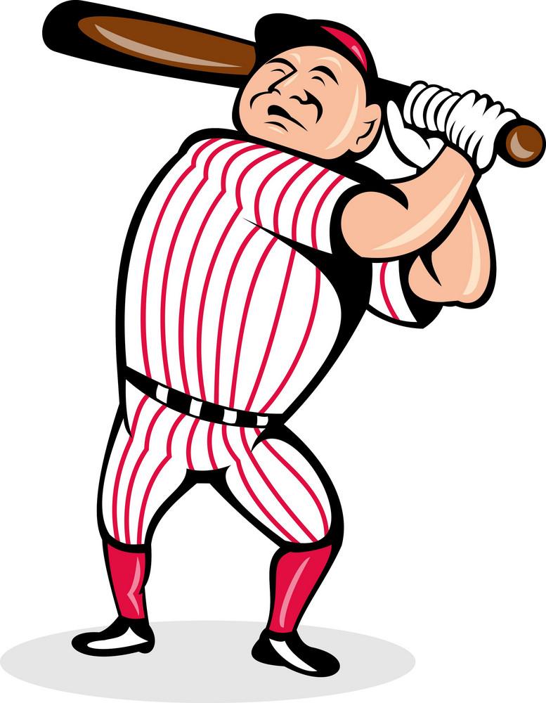 Baseball Player Swinging A Bat