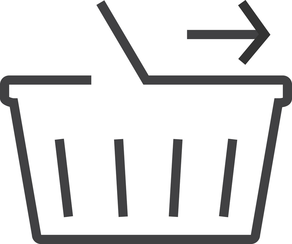 Basket 1 Minimal Icon