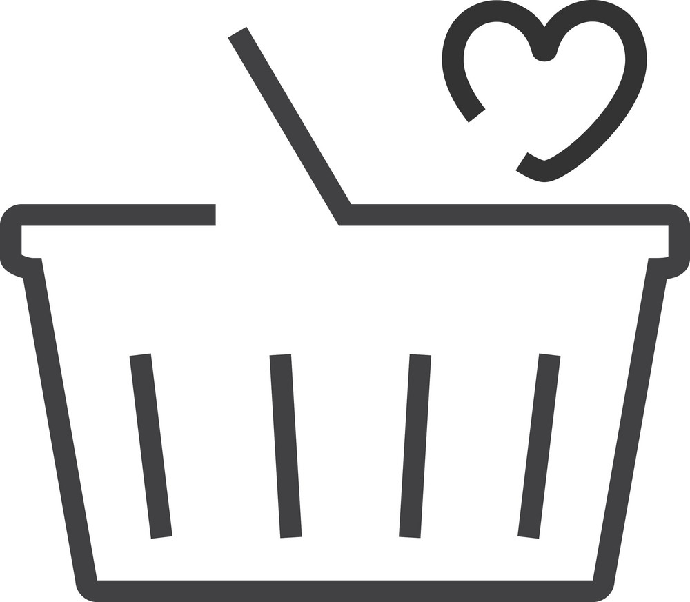 Basket 2 Minimal Icon