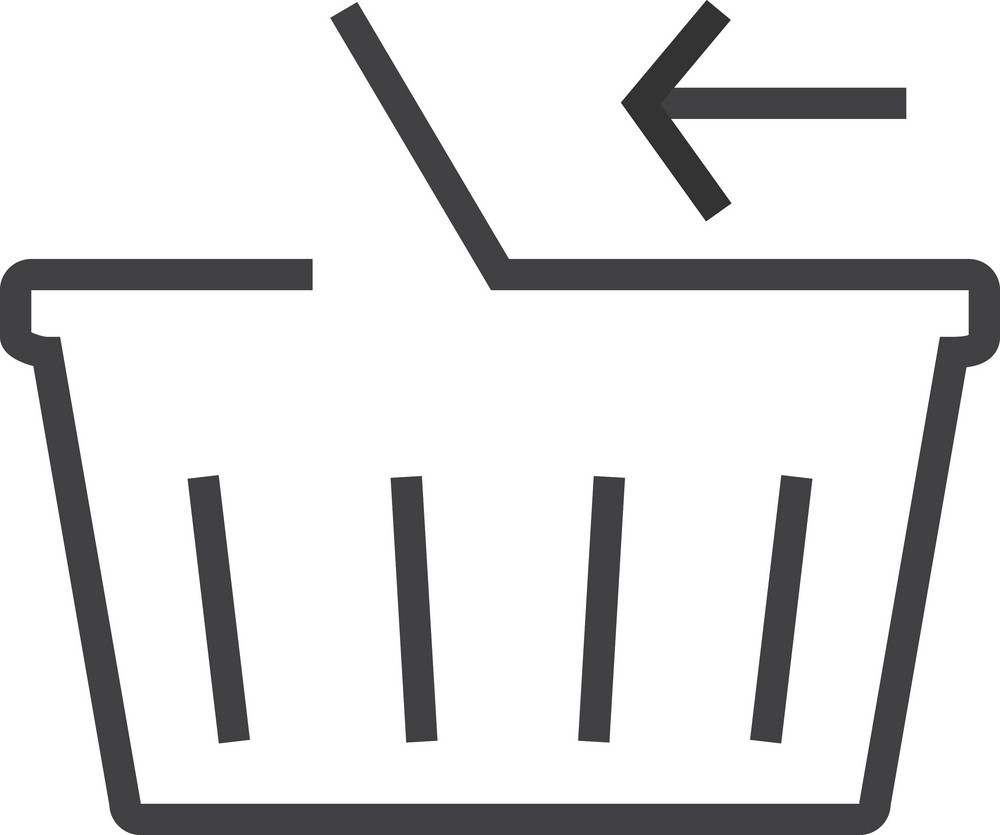Basket 3 Minimal Icon