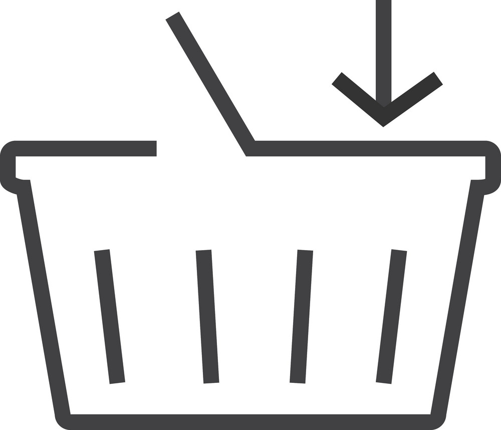 Basket 8 Minimal Icon